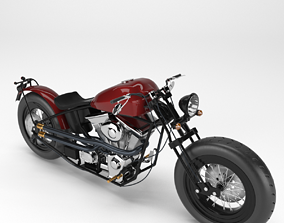 Motorcycle Custom ZERO Engineering Type 9 3D model