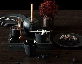 3D model Black Teapot Set from Royal Copenhagen
