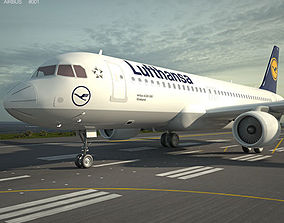 3D model Airbus A320 airliner