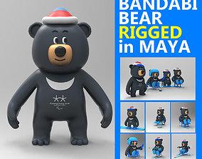 Rigged Bandabi mascot of Pyeongchang Paralympic games 3D