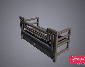 Steel Squared Grill 3D model