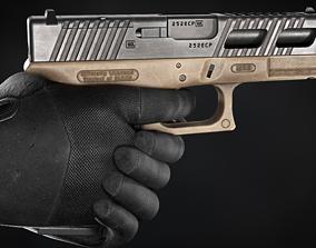3D model low-poly Glock 19 Gen 4