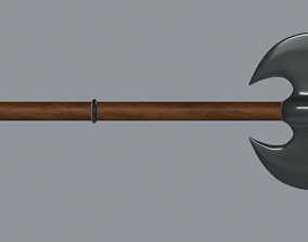 old Battle Axe 3D model game-ready