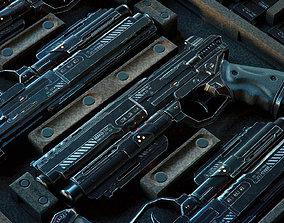 Gun SciFi - PBR Asset low-poly