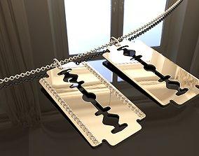 3D print model Blade pendants