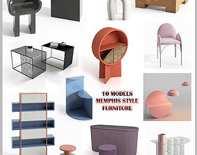 10 MODELS MEMPHIS STYLE FURNITURE