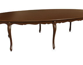 Classic wood table 3000 3D