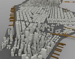 3D model Manhattan Island Cityscape