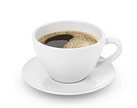 ceramic Cup with coffee 3D model