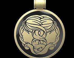 3D printable model gemini medallion