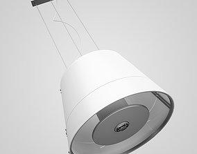 White Hanging Lamp 28 3D