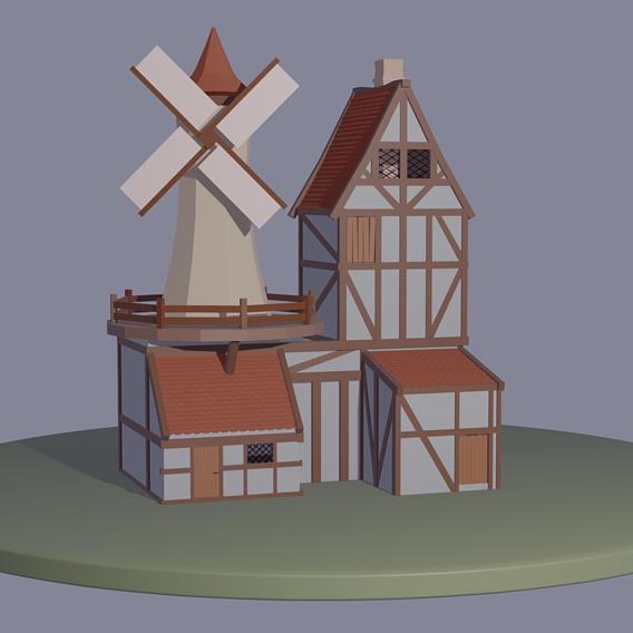 Farm house low poly