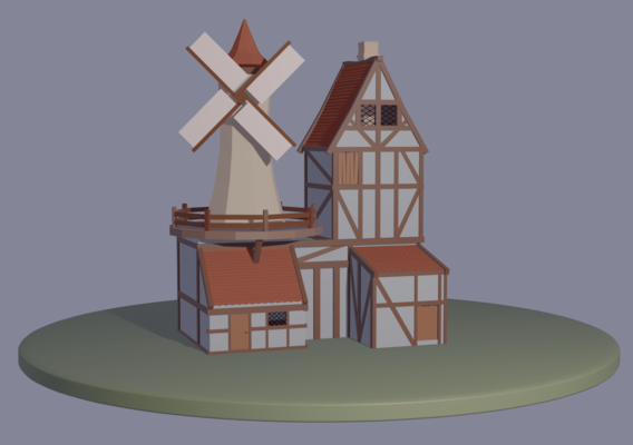 Farm house low poly