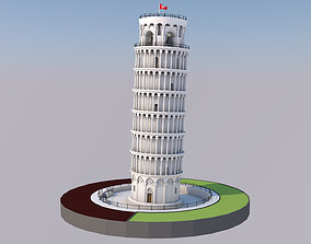 Highly Detailed Low Poly Leaning Tower of Pisa 3D asset