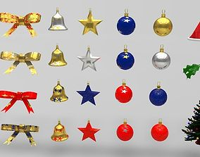 low-poly Christmas Models Packs ready for game