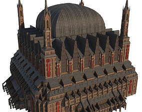 3D model Gothic Cathedral 02