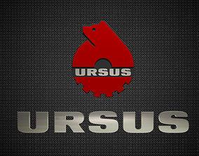ursus logo 3D model