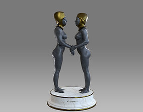 3D asset Zodiac Sign Female Gemini