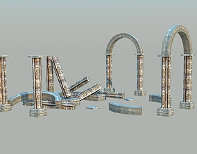 3D asset Ancient Ruins - Low Poly