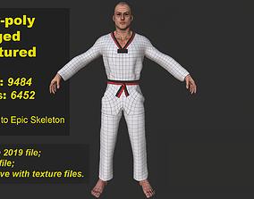Taekwondo fighter 3D model
