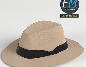 3D model Fedora Panama hat