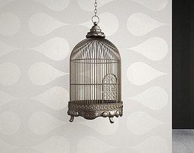 Antique Birdcage 01 3D