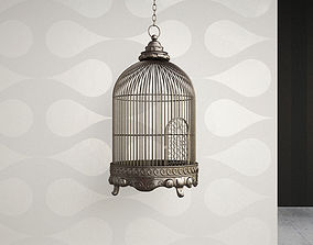3D Antique Birdcage 01