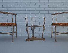 Splinter Chair Free low-poly 3D model realtime