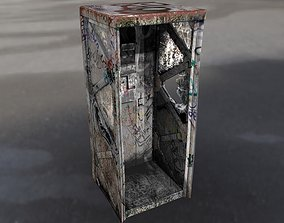 Post Apocalyptic Call Box in Sci-Fi Style 3D model