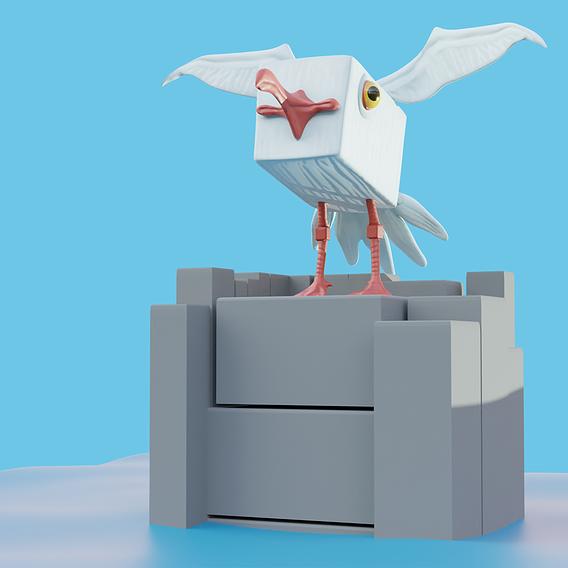 Stylized Seagull