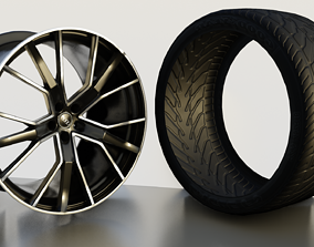 2019 audi s7 wheel and tire 3D model