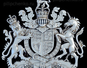 Coat of arms of the United Kingdom 3D printable model