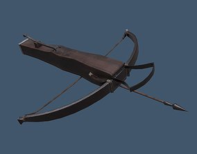 Fantasy Style Crossbow 3D asset