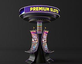 3D model casino premium slot machine curve