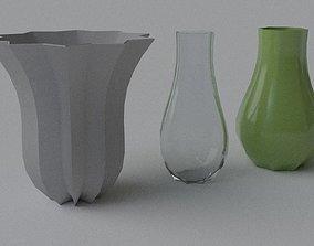 3D model Decorative Vase - Set 2