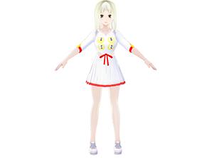 3D model JINNY ASIAN GIRL ANIME CHARACTER T-POSE SHAPE