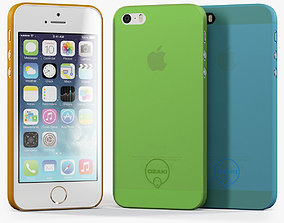 3D asset Apple iPhone 5S with Case Ozaki Jelly