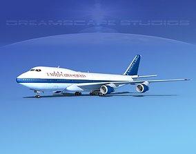 3D Boeing 747-100 United Cargo
