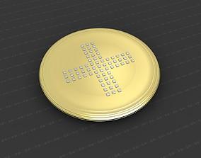 3D printable model Cross Medallion art bronze