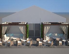 3D event tent oriental modern
