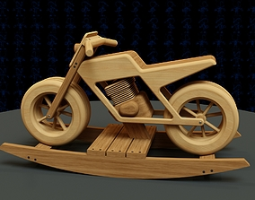 3D printable model Rocking Motorcycle Wooden Toy