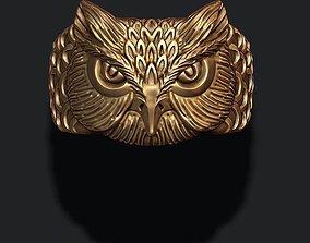 apparel owl ring 3D printable model