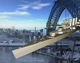 waterline WW2 HMAS Canberra 3D print model