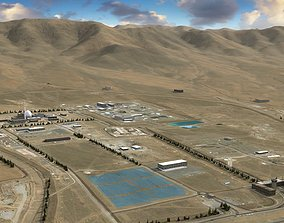 Arak Nuclear Reactor Iran 3D