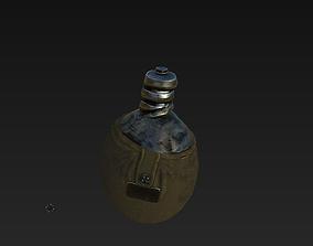 3D model soviet union old flask