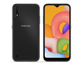 Samsung Galaxy A01 Black 3D