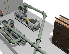 Pump system 3D model