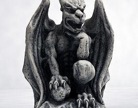 Gargoyle Statue 3D model gothic