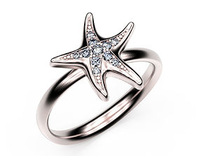 3D print model Ring StarFish lightweight