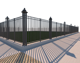 Security Fence 3D model